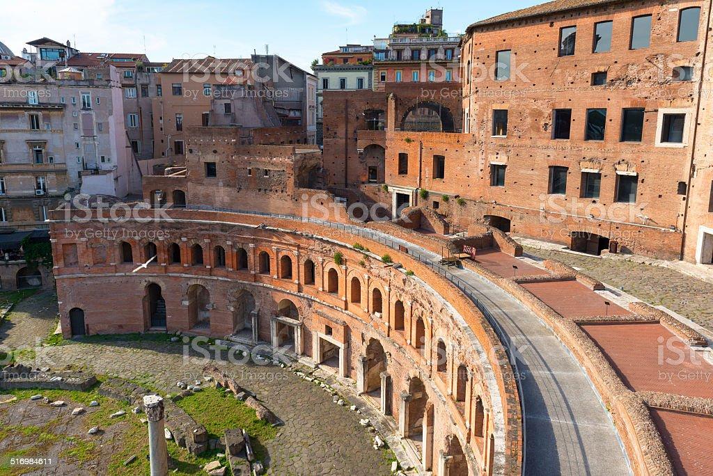 Market of Trajan in Rome stock photo