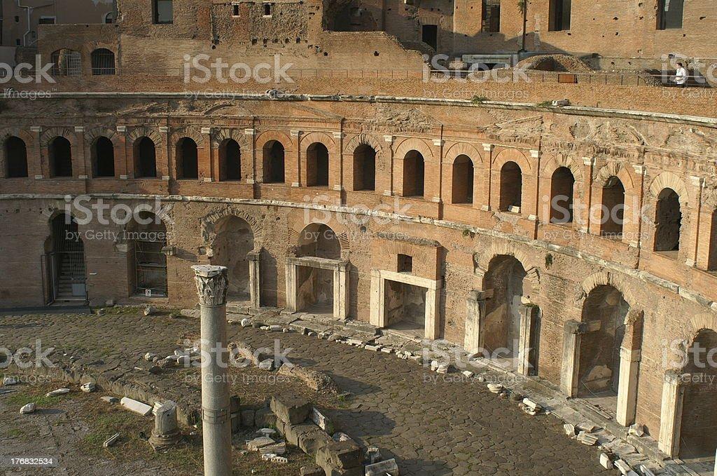 Market of Trajan royalty-free stock photo