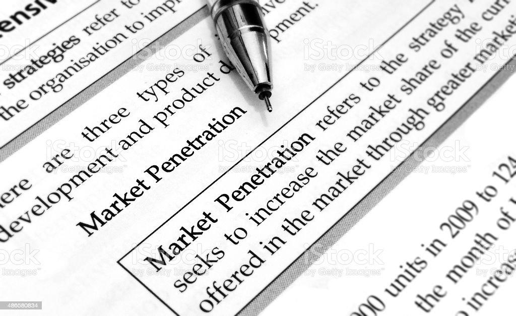 market penetration stock photo