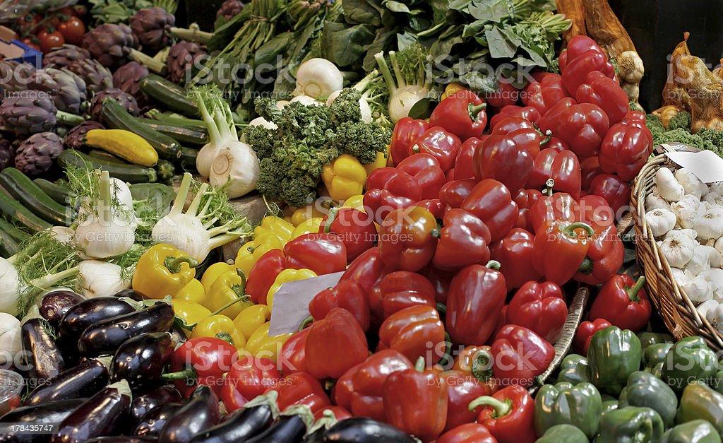 Market pile royalty-free stock photo