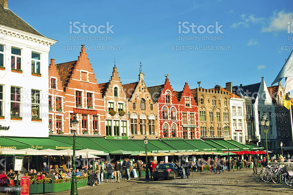 Market Place, Bruges, Belgium royalty-free stock photo