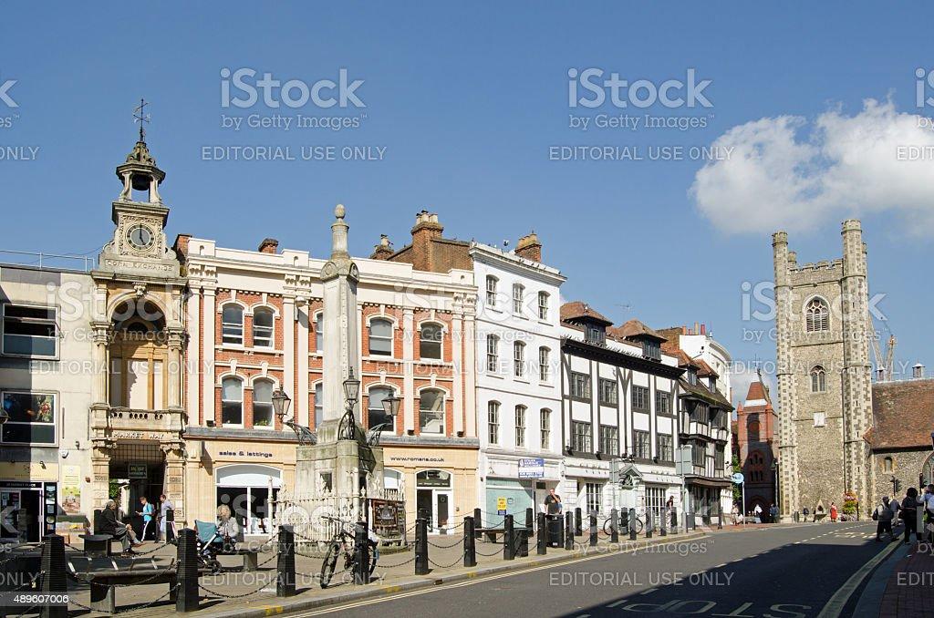 Market Place Square, Reading, Berkshire stock photo