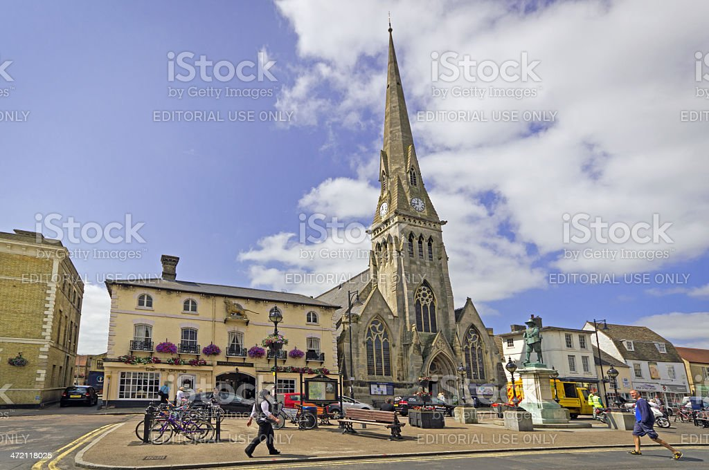 Market place St Ives stock photo