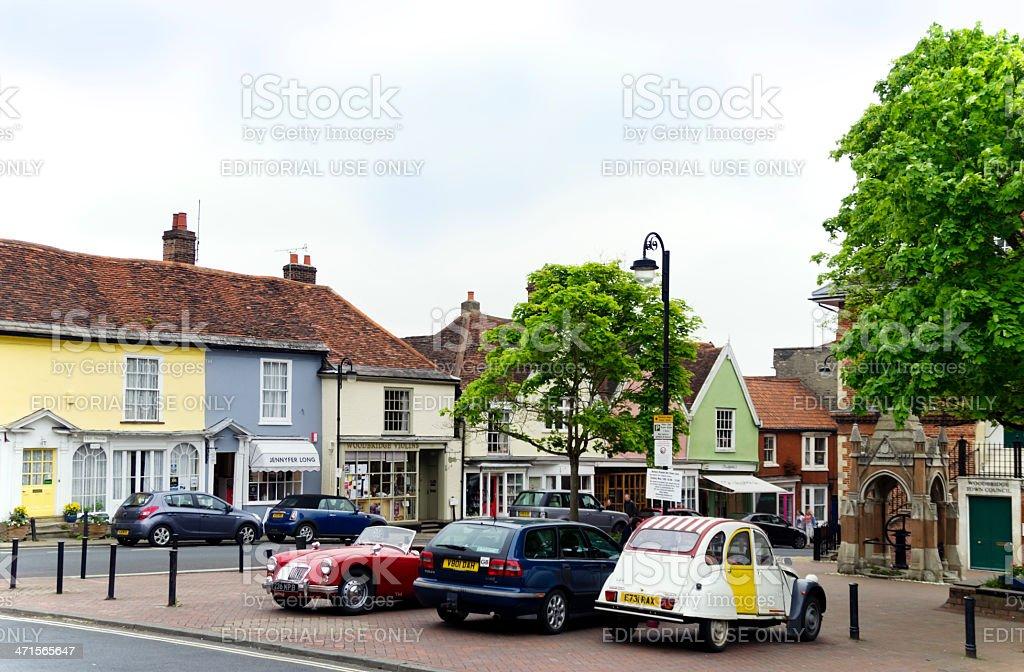 Market Place, Woodbridge royalty-free stock photo