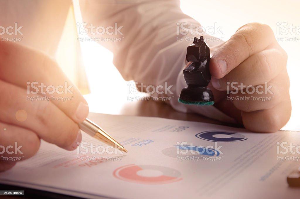 De investigación de mercado y negocio estrategia concepto foto de stock libre de derechos