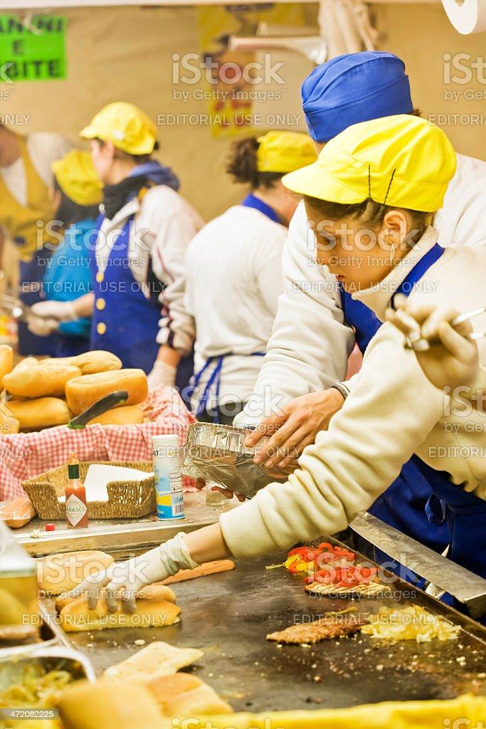 Market Saint Lucia to Verona, Italy stock photo