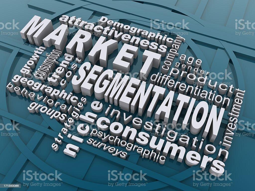 market segmentation stock photo