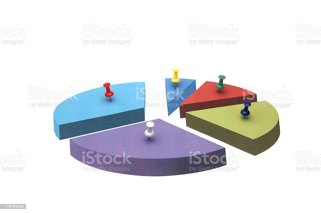 Market segmentation pie charts royalty-free stock photo
