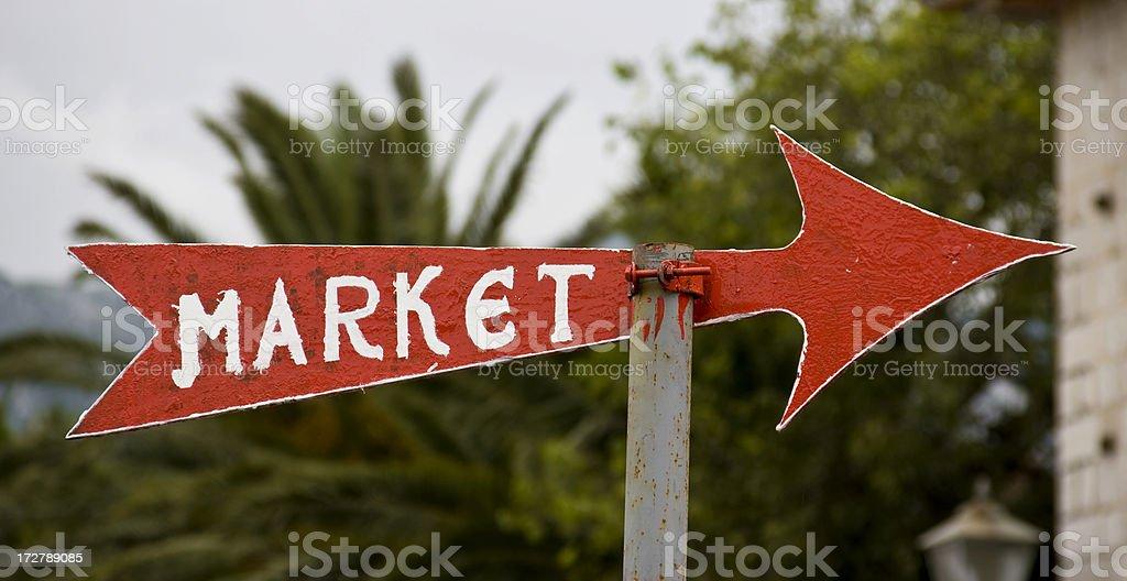 Market Sign royalty-free stock photo