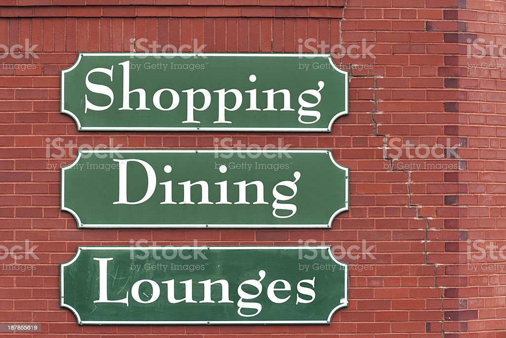Market signs royalty-free stock photo