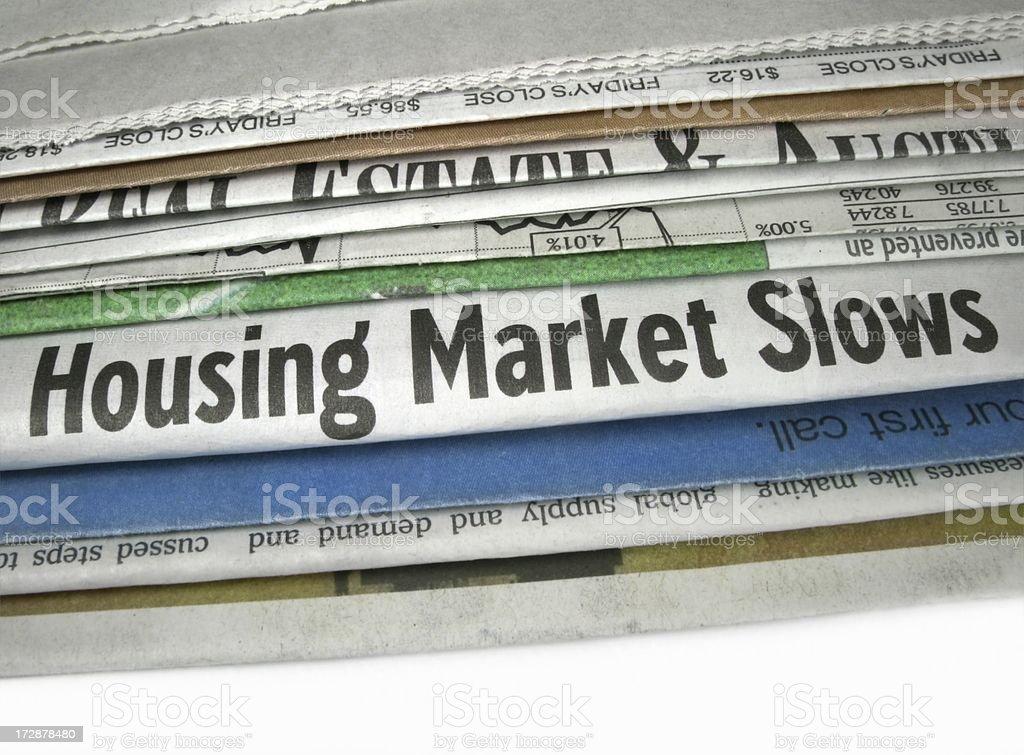 Market Slows stock photo