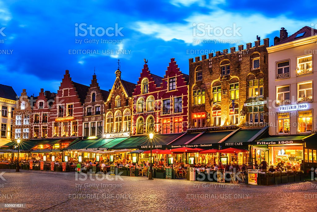 Market Square, Bruges stock photo