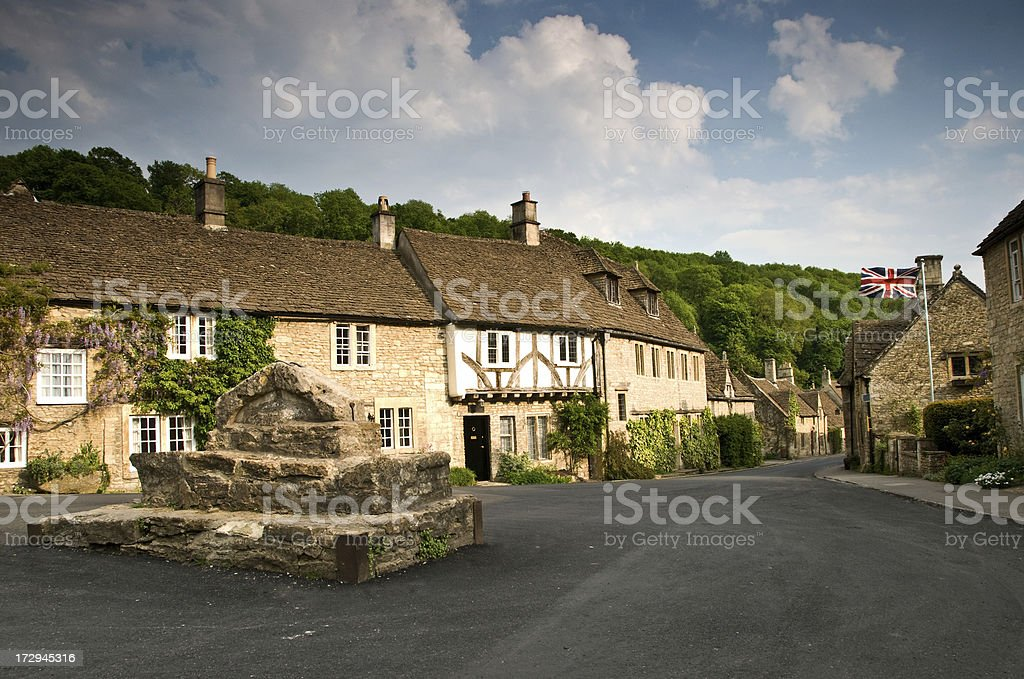 Market square in a traditional English town stock photo