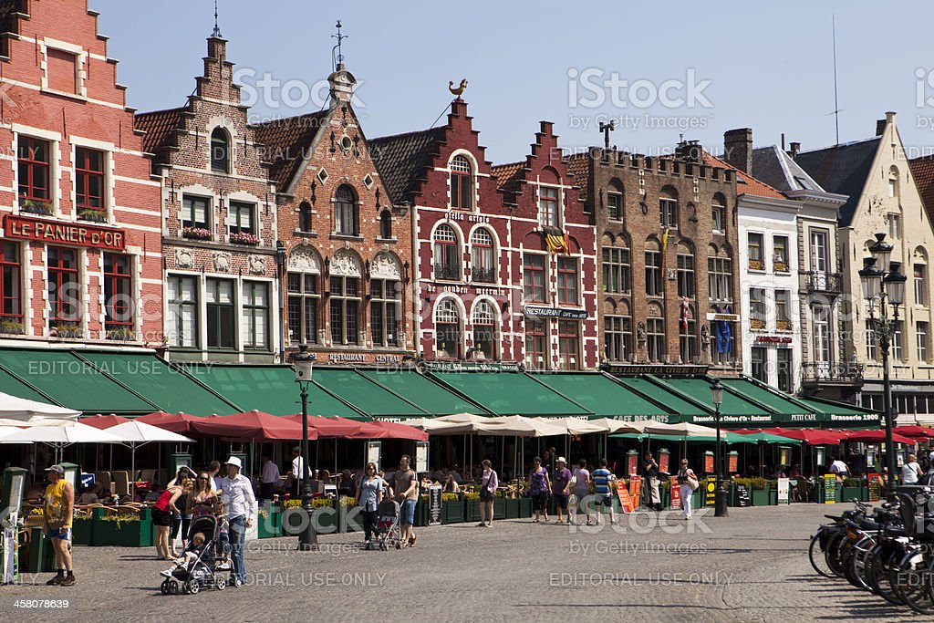 Market Square in Bruges royalty-free stock photo