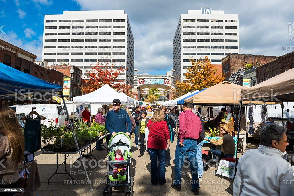 Market Square in Knoxville, Tennessee stock photo