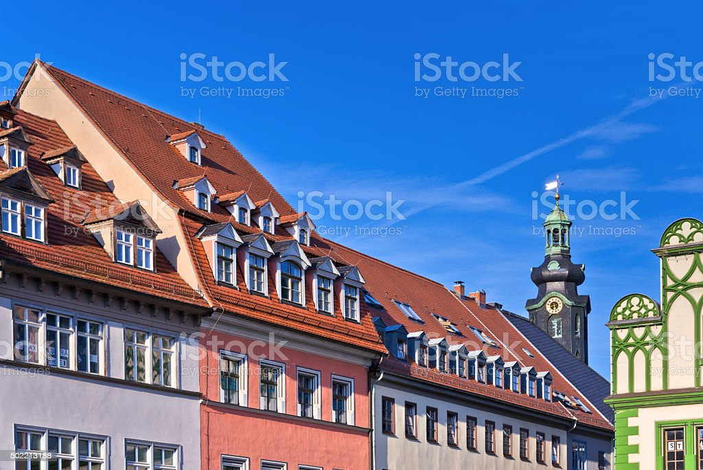 Market Square in Weimar, Germany stock photo