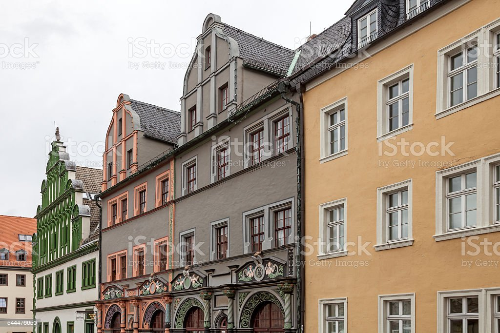 Market Square of Weimar stock photo