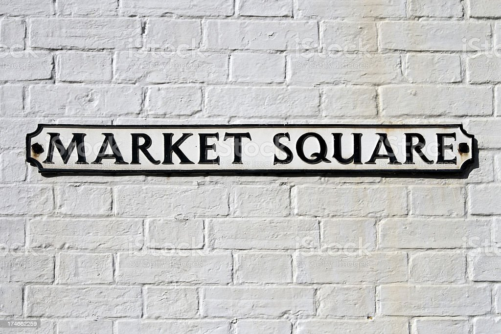 Market Square sign stock photo
