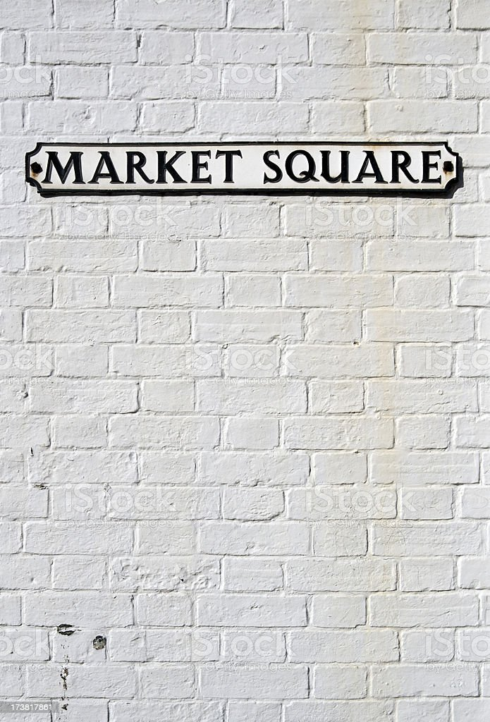 Market Square sign with copy space royalty-free stock photo