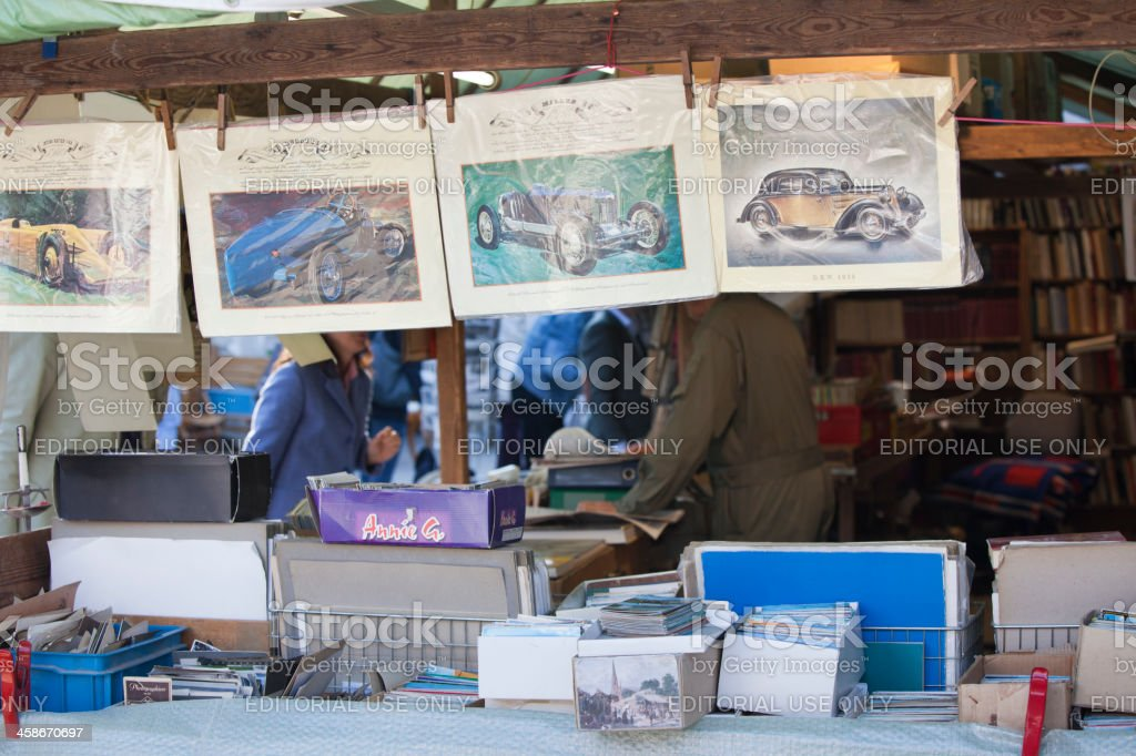 Market stall at mayfair in Munich royalty-free stock photo