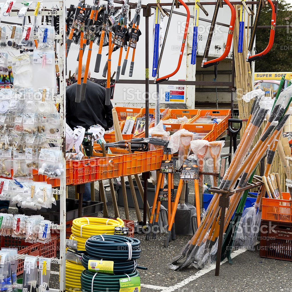 Market stall - DIY and garden supplies royalty-free stock photo