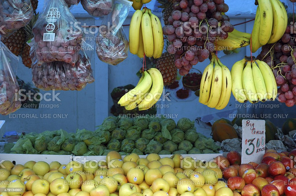 Market Stall in Port of Spain, Trinidad and Tobago stock photo