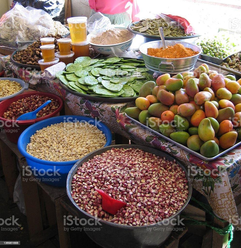 Market stall, Mexico royalty-free stock photo