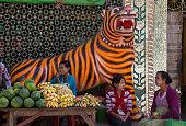 Market stall - Mount Popa - Myanmar