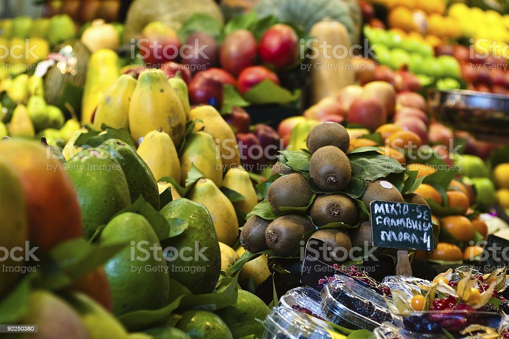 Market stall of fresh organic food royalty-free stock photo