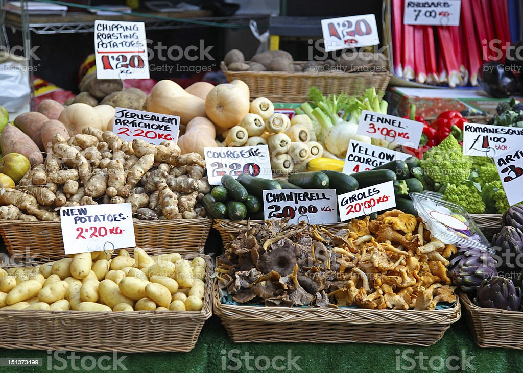 Market stall royalty-free stock photo