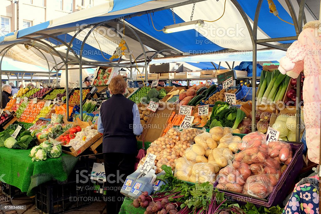 Market Stall. stock photo