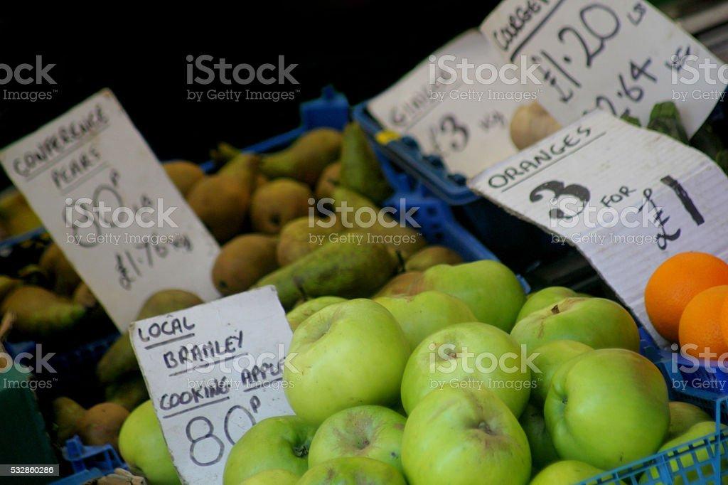 Market Stall Scene stock photo