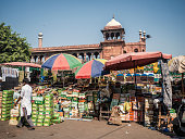Market stall selling dates in Old Delhi India
