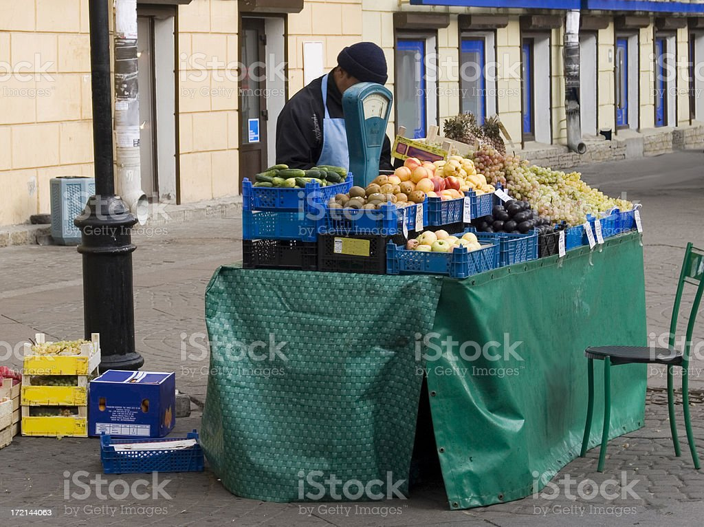 Market stall, St Petersburg, Russia royalty-free stock photo