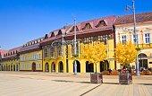 Market Street (Hungarian: Piac utca),Debrecen city, Hungary