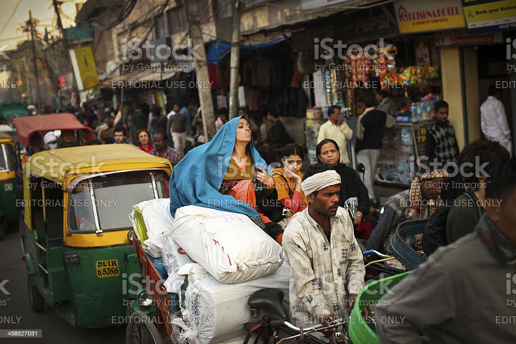 Market Street in New Delhi royalty-free stock photo