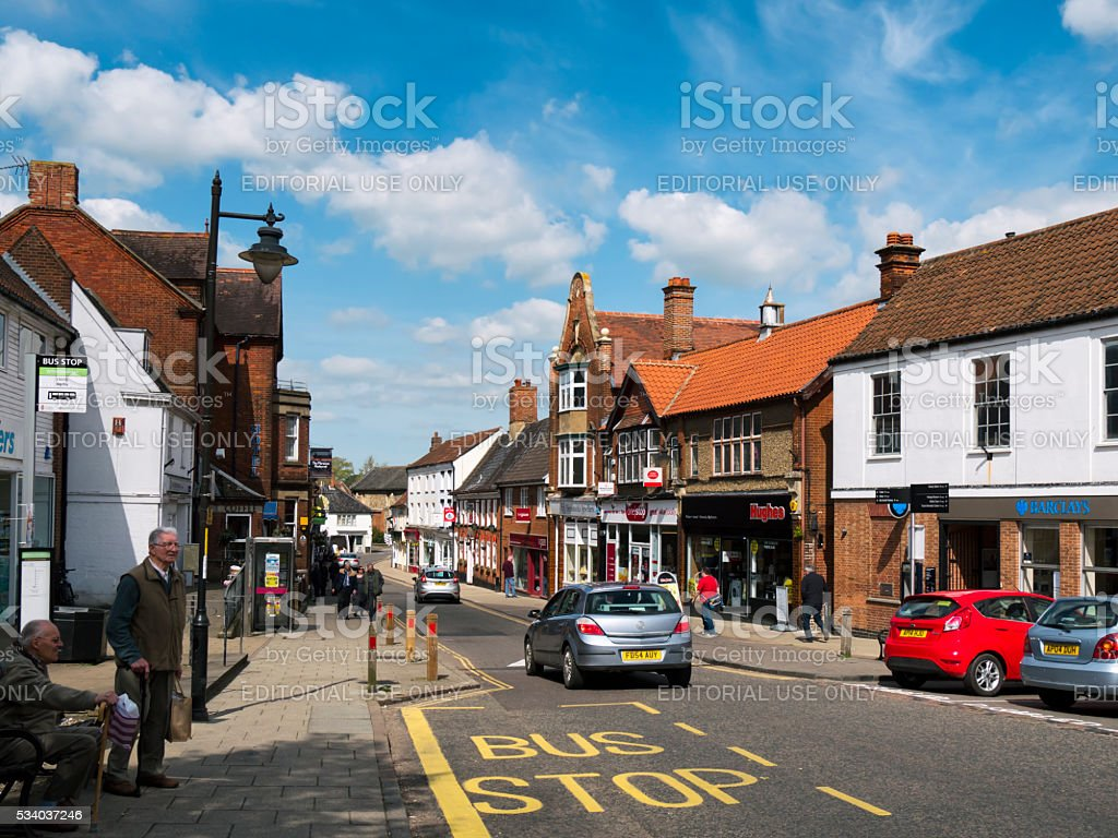Market Street, Wymondham stock photo