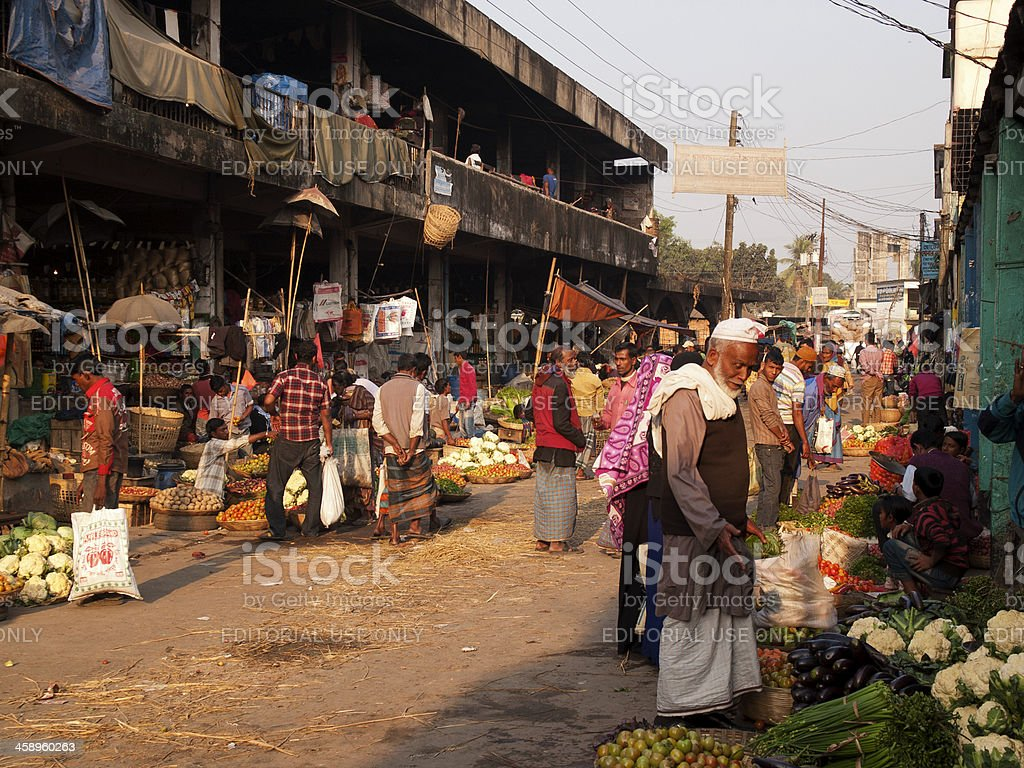 Market streets of Bangladesh stock photo