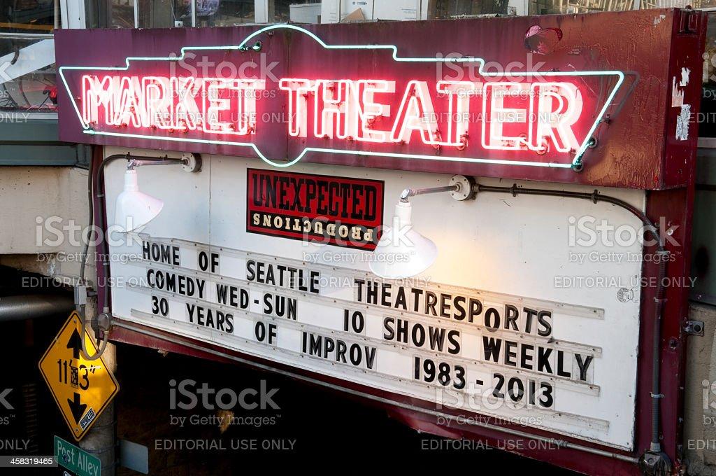 Market Theater royalty-free stock photo