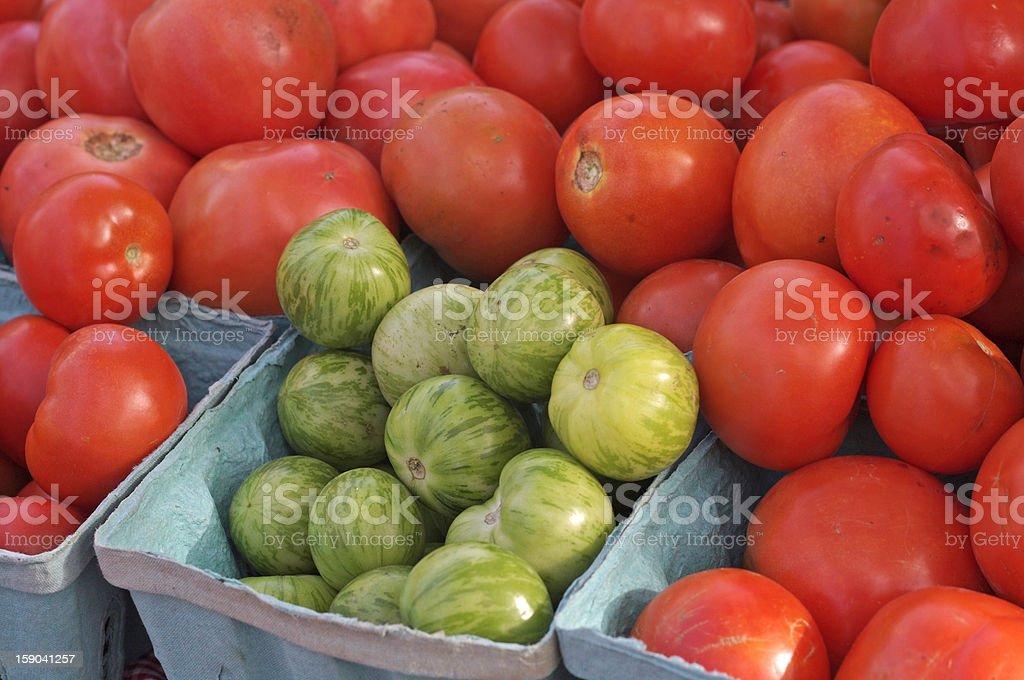 Market Tomatoes stock photo