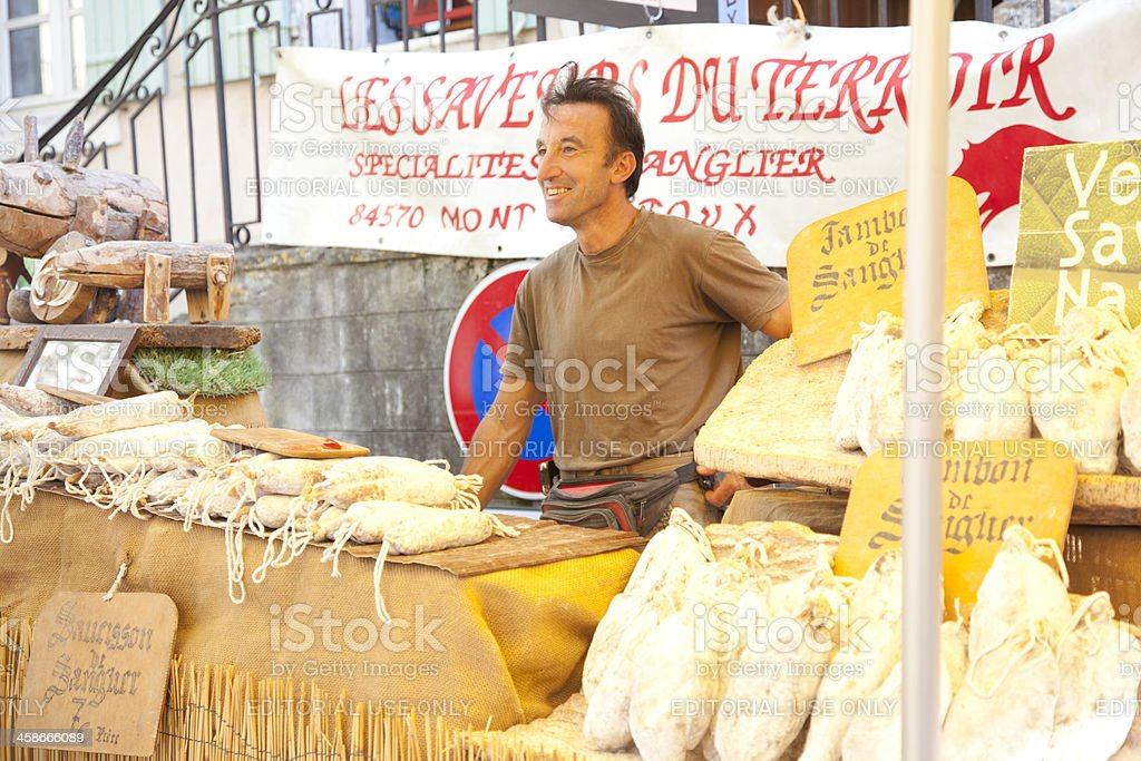 market trader in France stock photo