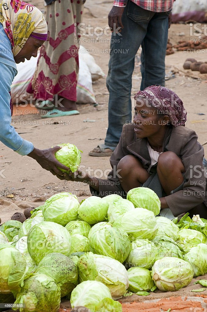Market transaction in Ethiopia royalty-free stock photo