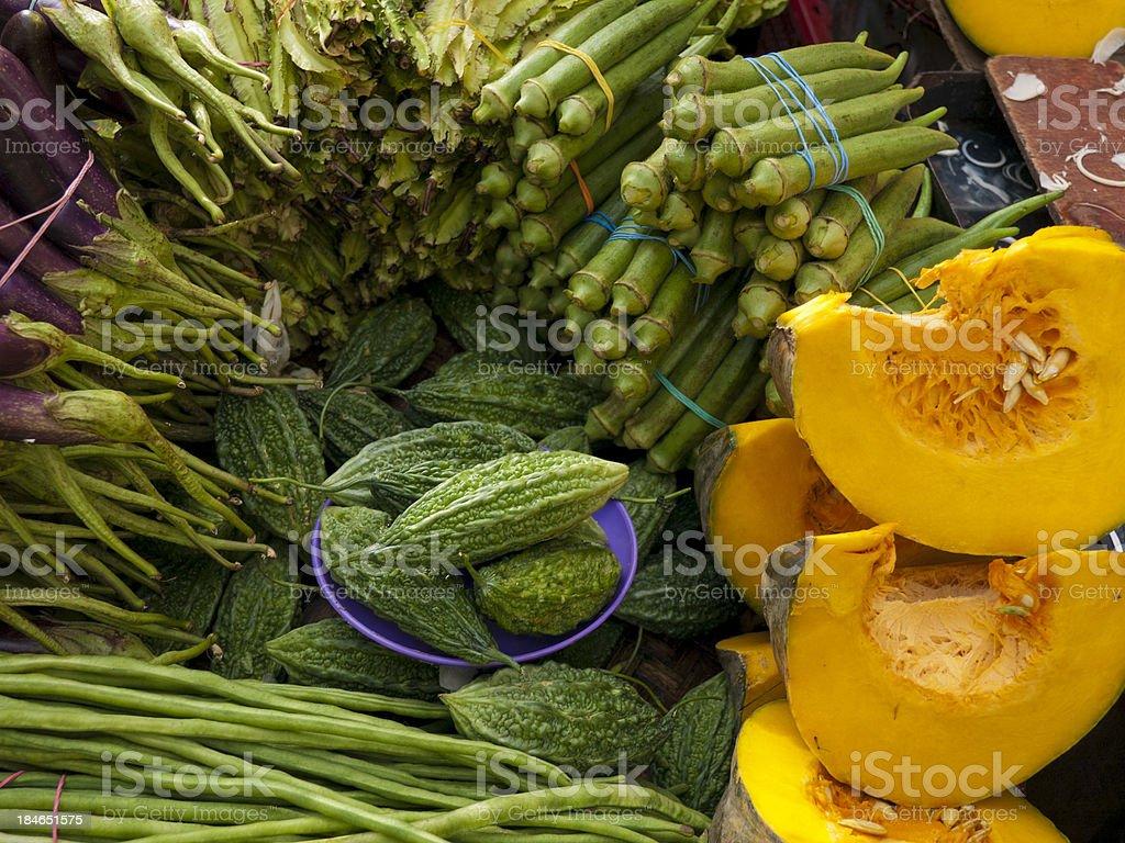 Market Vegetables Manila stock photo