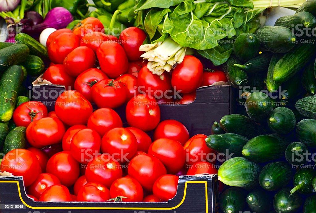 Market vegetables stock photo