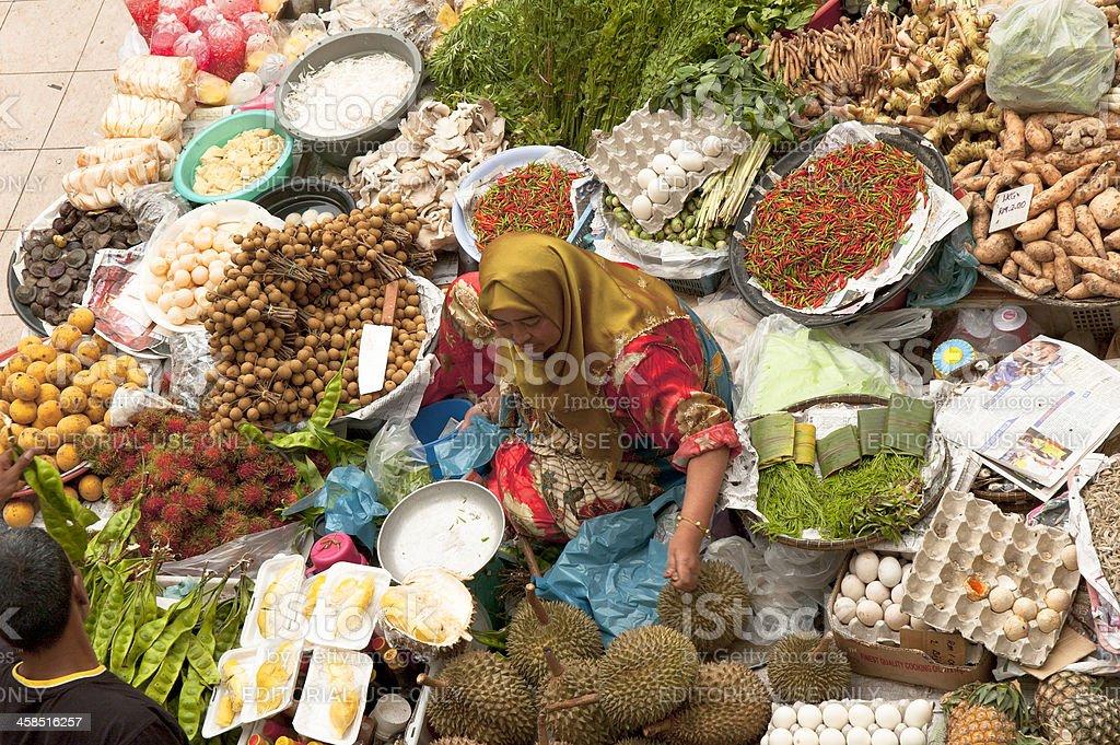 Market Vendor In Kota Bharu stock photo