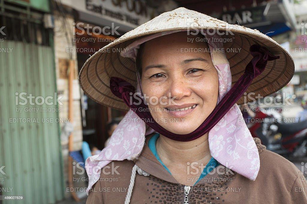 Market vendor royalty-free stock photo