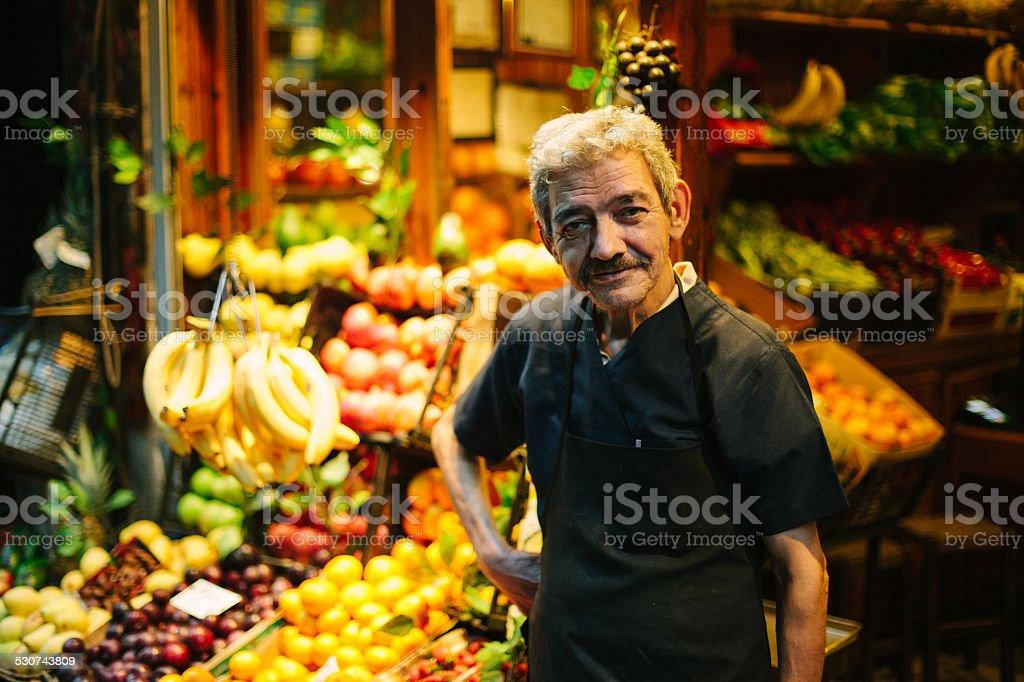 Market Vendor stock photo