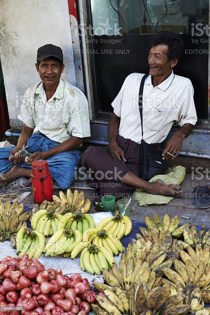 Market Vendors royalty-free stock photo
