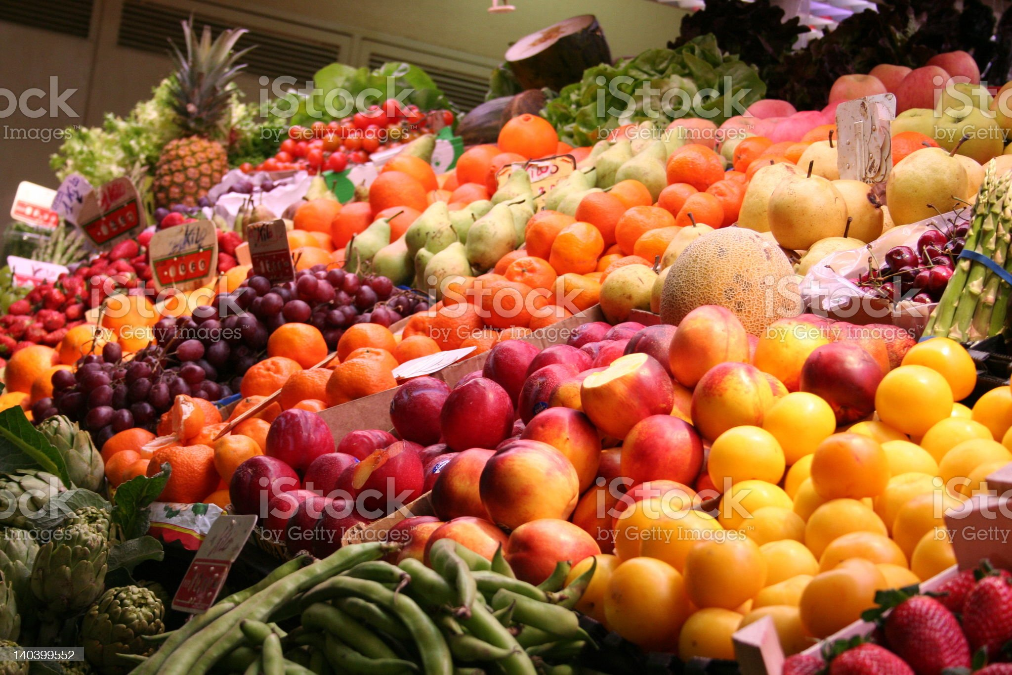 Market-hall in Spain royalty-free stock photo