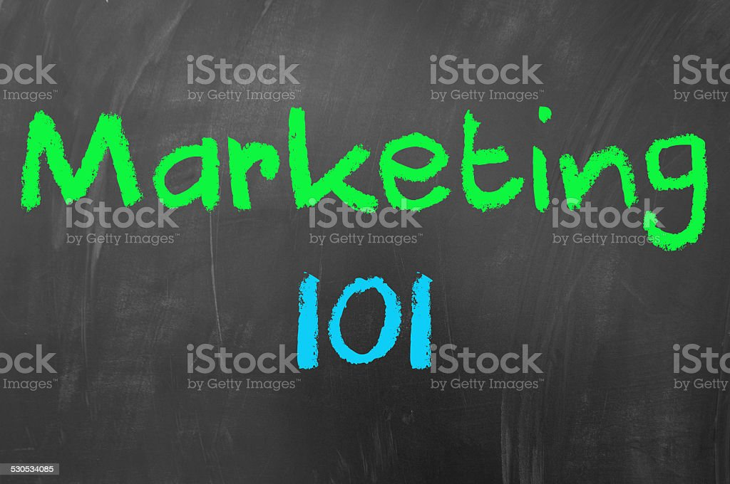 Marketing 101 stock photo